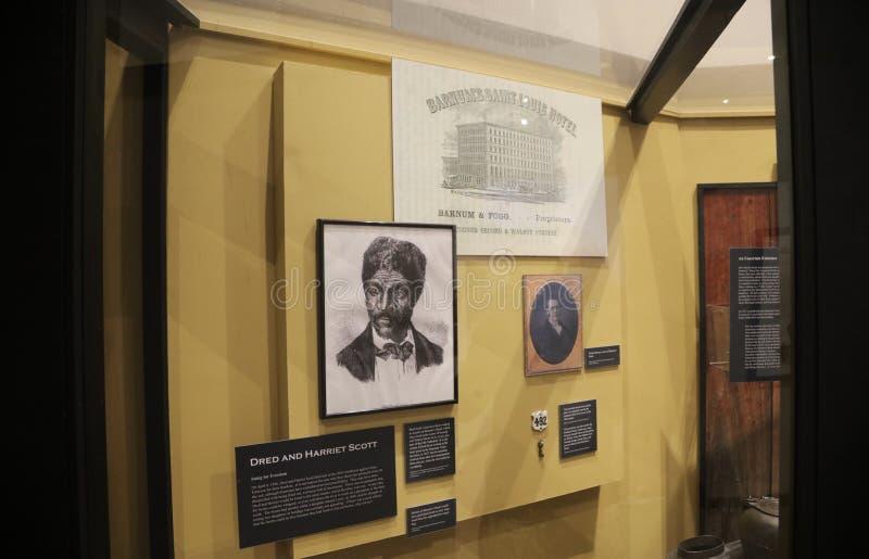 Dred Scott Exhibition, St Louis, MO fotos de stock royalty free