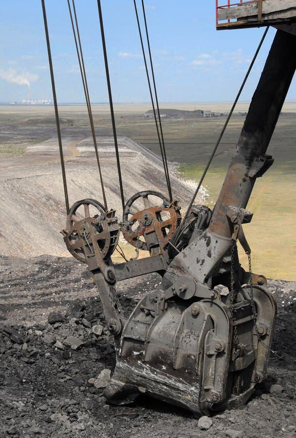 Dredge. Coal mining, dredge, mining operations stock photos