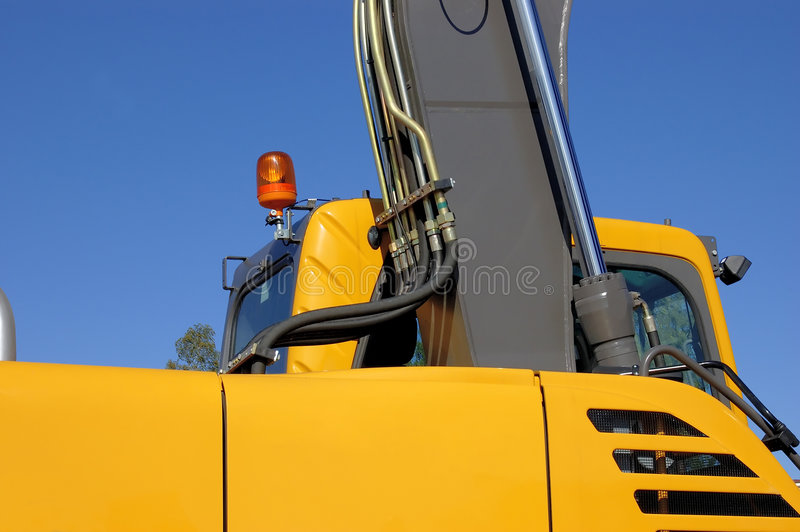 Dredge. A side view on an arrow and a cabin royalty free stock image