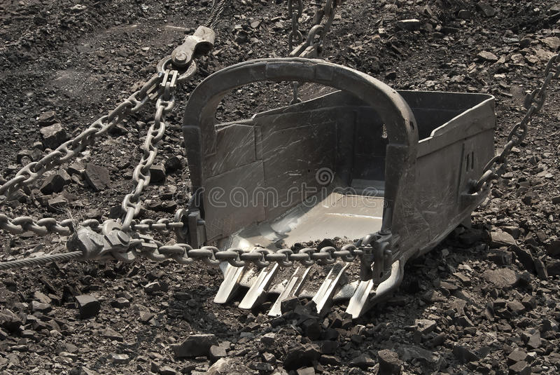 The dredge. Mountain works, the coal industry stock photos