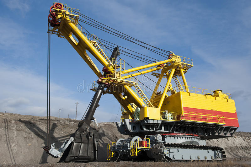 The dredge. Mountain works, the coal industry royalty free stock photo