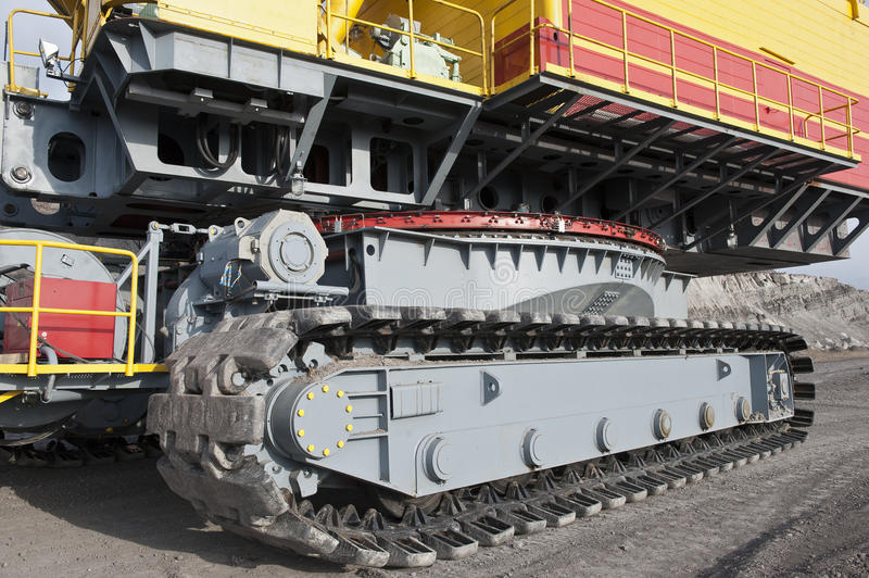 The dredge. Mountain works, the coal industry royalty free stock image