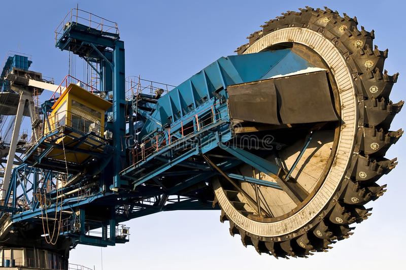 The dredge. Mountain works, the coal industry royalty free stock images