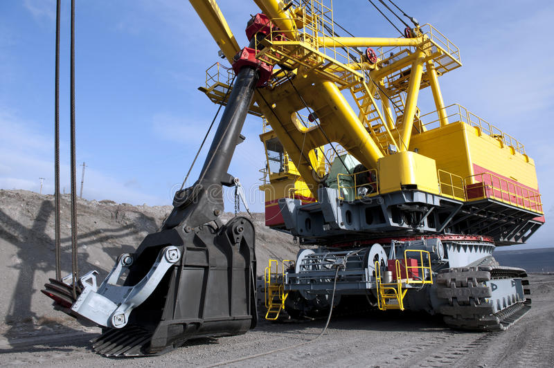 The dredge. Mountain works, the coal industry stock images