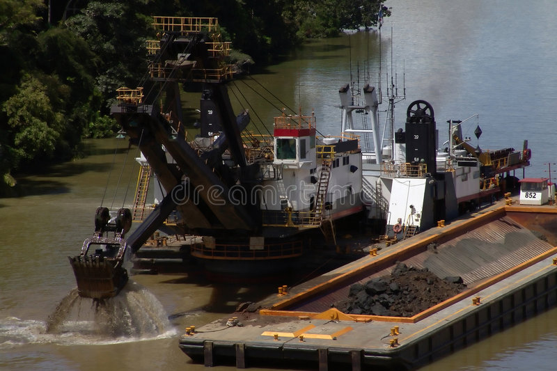 Download Dredge stock photo. Image of boat, tool, industry, barge - 535718