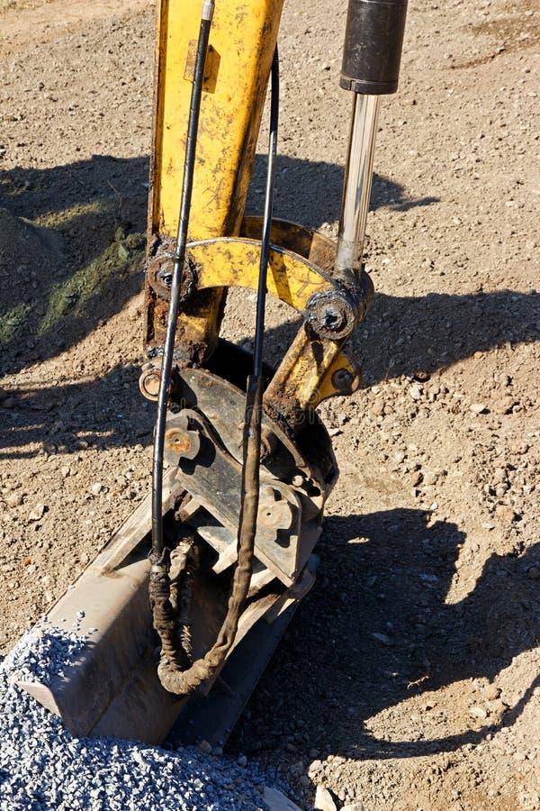 Dredge dredge. Laid on gravel stock photography