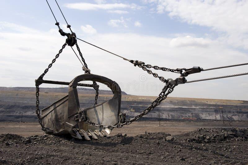 Dredge ladle. Coal mining, the mechanism, the tool, work stock photo