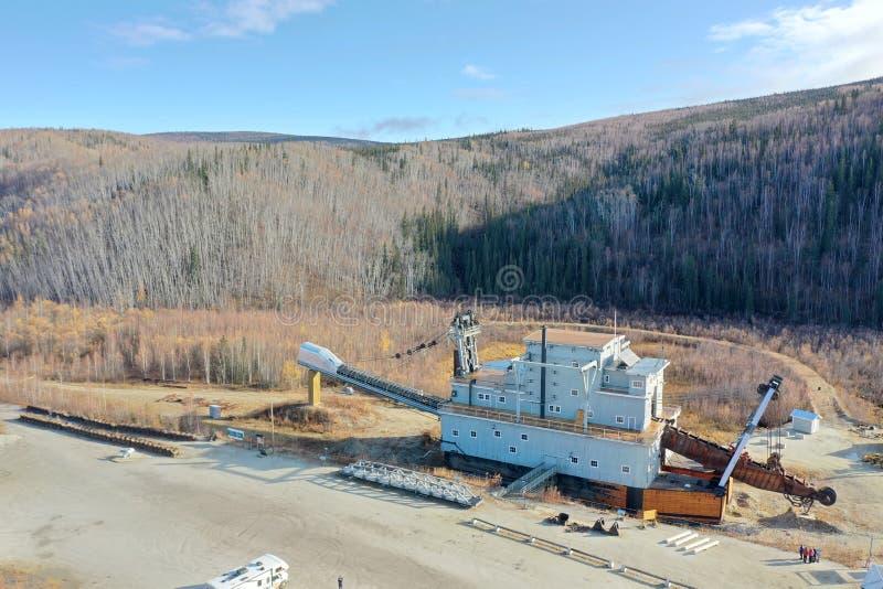 Dredge No. 4. Gold Mining Dredge No. 4 at Bonanza Creek near Dawson City in the Yukon in Canada royalty free stock photos
