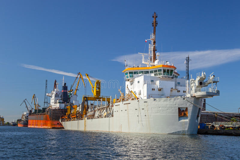 Dredging Ship Stock Photography
