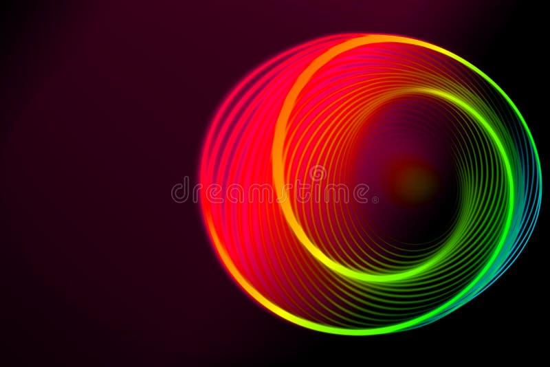 Drehende KreisSpirale der bunten Spiralenzusammenfassung lizenzfreie abbildung