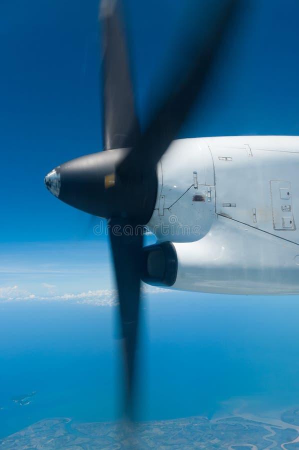 Drehender Propeller stockfoto