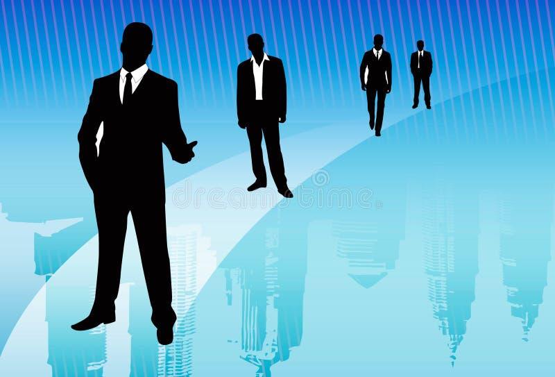 Drehenvertrauen in Geschäftserfolg lizenzfreie abbildung