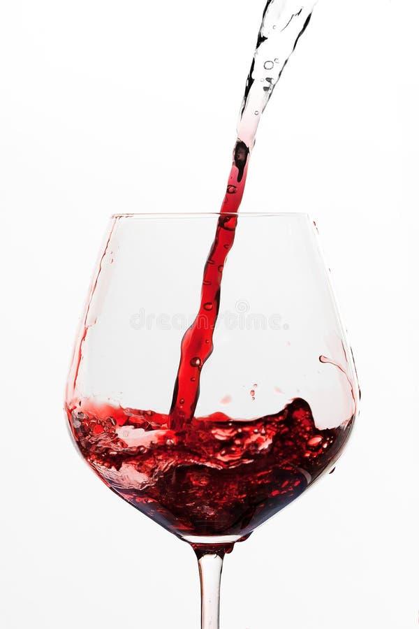 Drehenwasser in Wein lizenzfreie stockfotografie