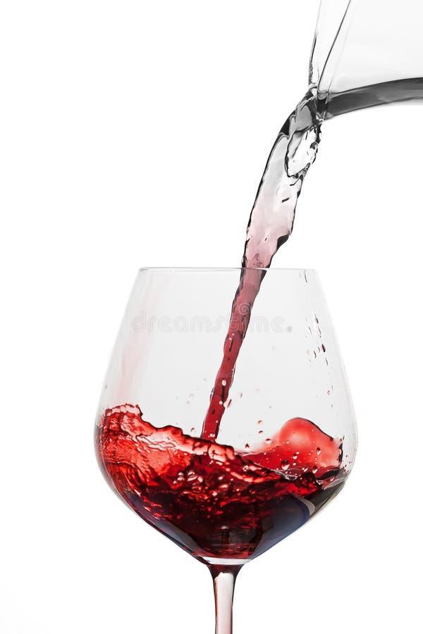 Drehenwasser in Wein stockfotos