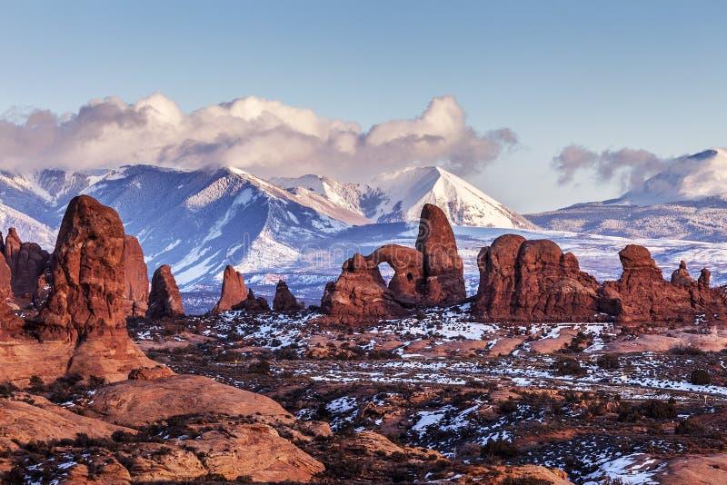Drehkopf-Bogen, Utah lizenzfreies stockbild