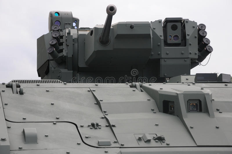 Drehkopf eines Fahrzeugs des gepanzerten MTW stockfotos