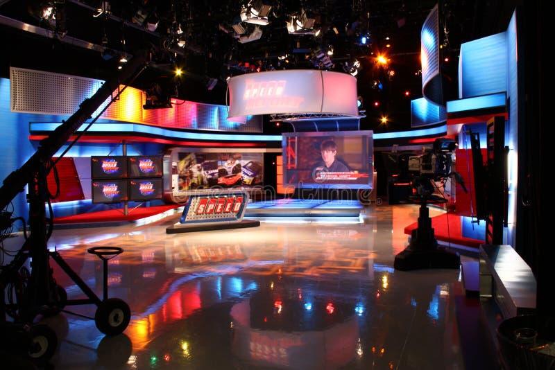 Drehzahl-Fernsehen-Studio lizenzfreies stockbild