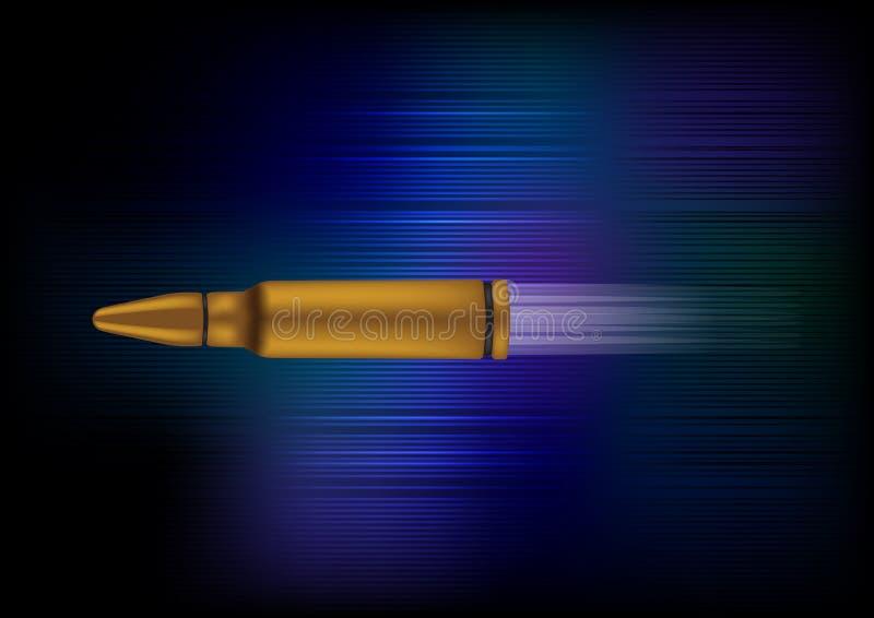 Drehzahl-Gewehrkugel-vektorabbildung stock abbildung