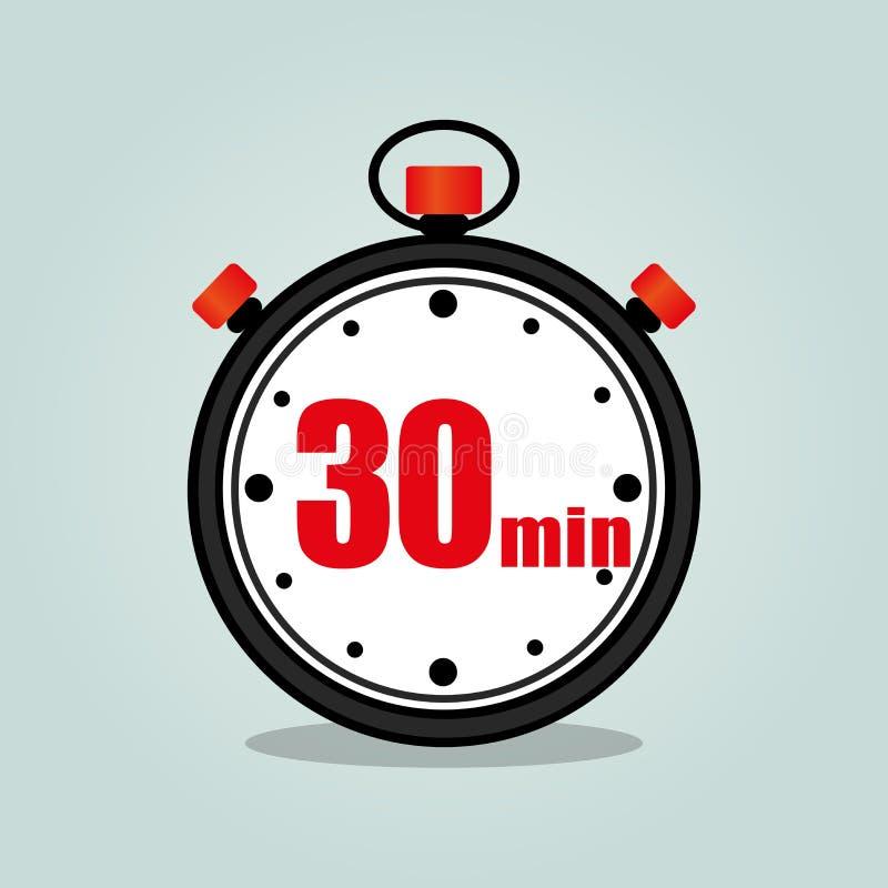 Dreißig-Minute-Stoppuhr stock abbildung
