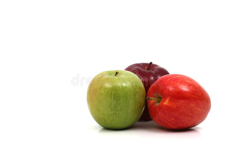 Drei Äpfel Lizenzfreies Stockfoto