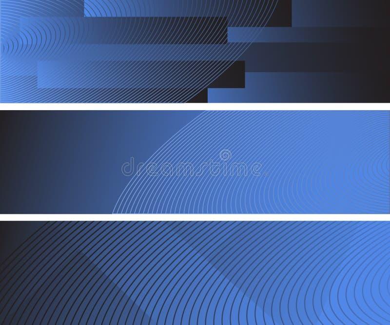 Drei abstrakte Fahnen vektor abbildung