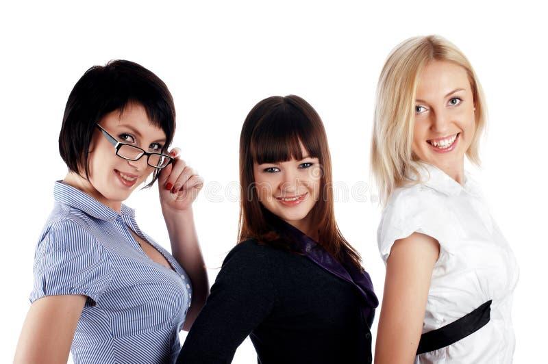 Drei bezaubernde junge Mädchen stockfotos