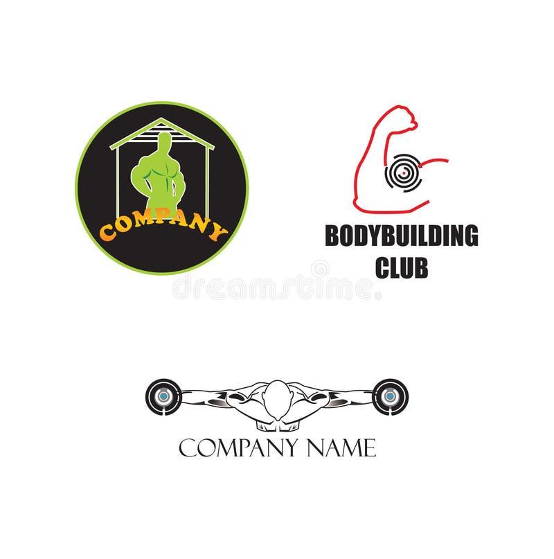 Drei bodybuildende Logos stock abbildung