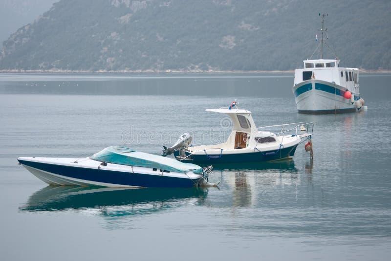 Drei Boote lizenzfreies stockfoto
