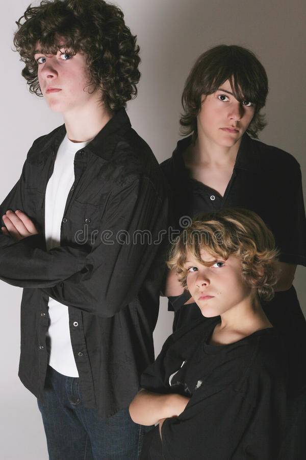 Drei Brüder lizenzfreie stockfotografie