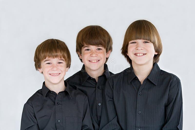 Drei Brüder stockbild