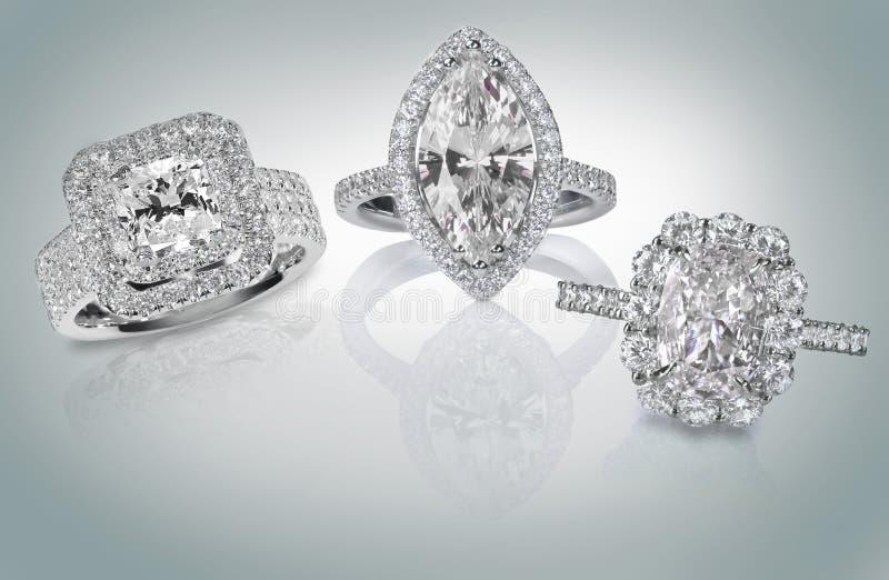 Drei Diamant Ringe stockbilder