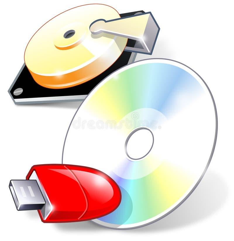 Drei Einheiten für Backup lizenzfreie abbildung
