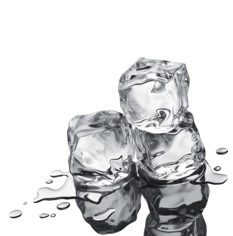 Drei Eiswürfel lizenzfreies stockbild