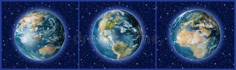 Drei Erde A stock abbildung