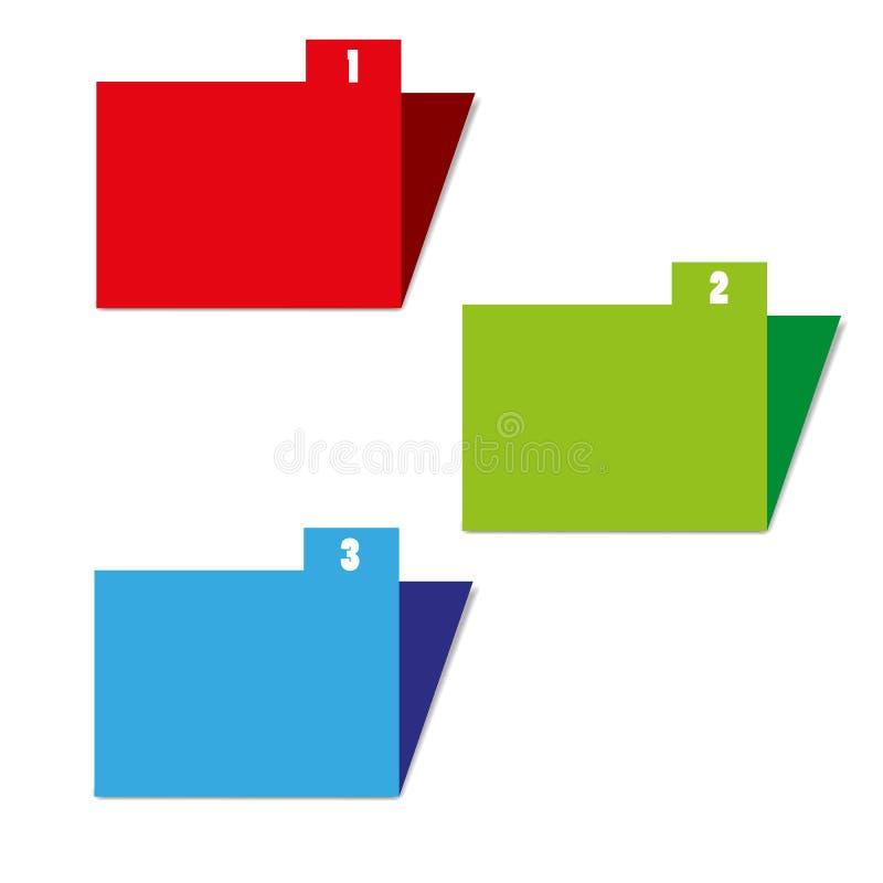 Drei Farbordner stock abbildung