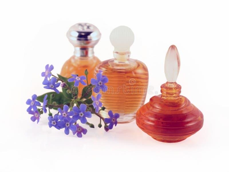 Drei Flaschen Duftstoff stockfoto