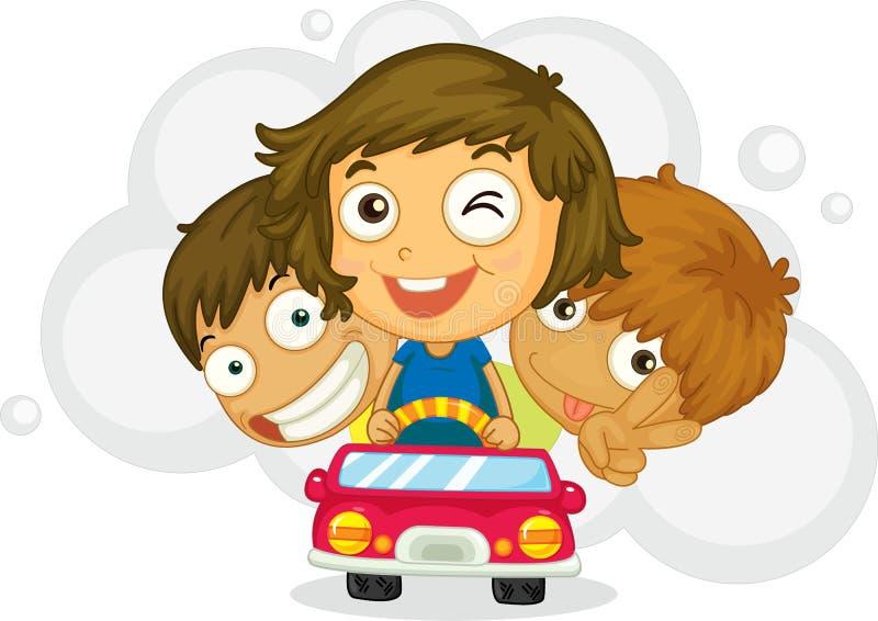 Drei freche Kinder vektor abbildung
