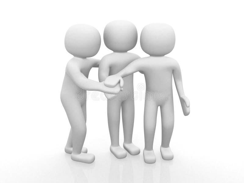 Drei Freunde - Ikone 3d stock abbildung