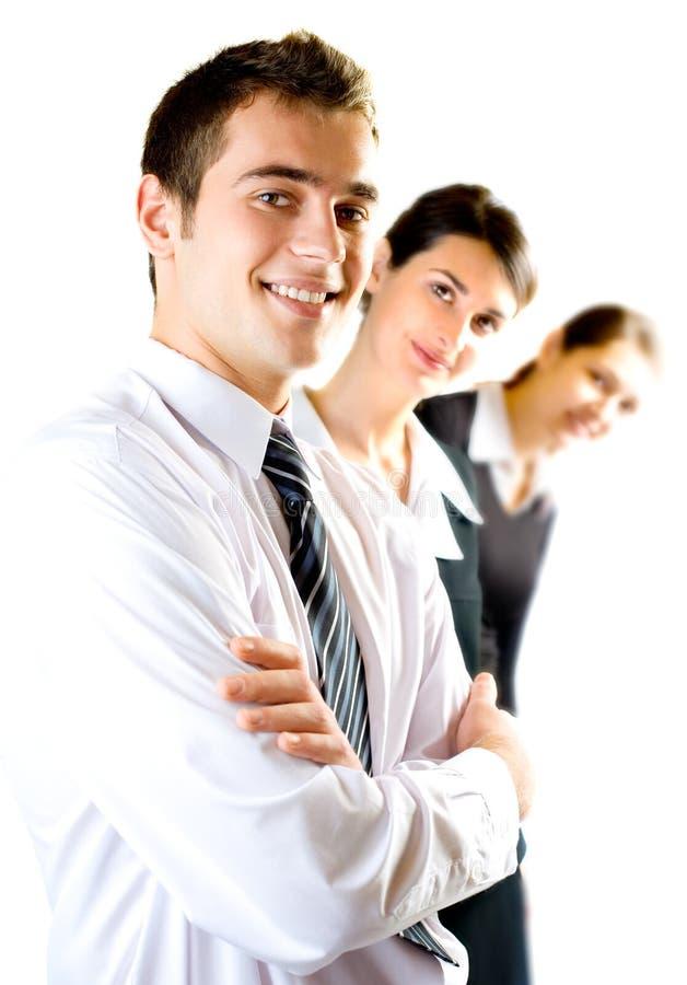 Drei Geschäftsleute stockbild