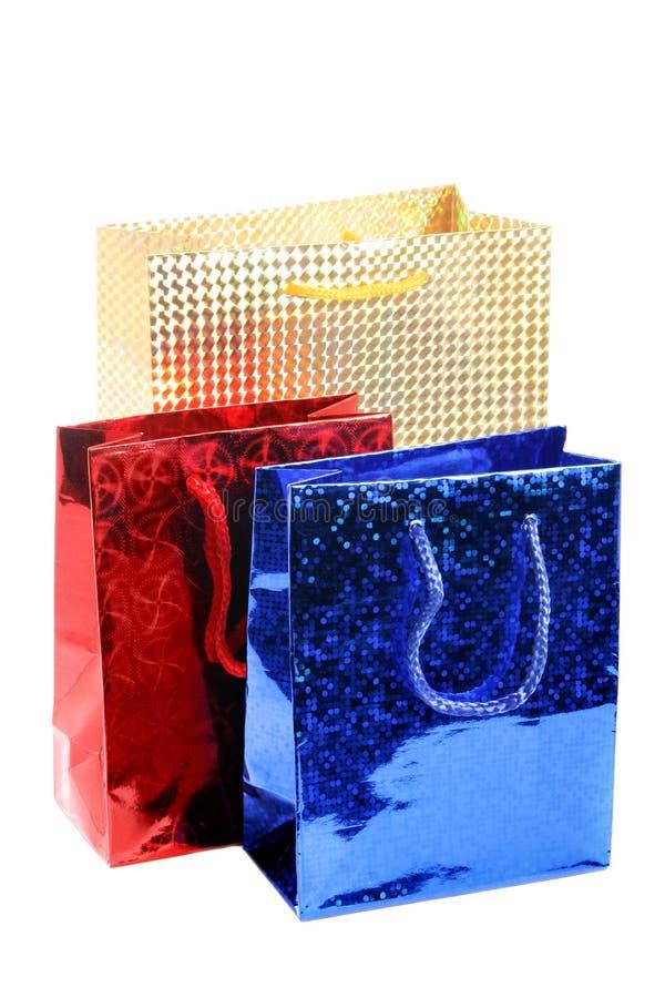 Drei Geschenkbeutel stockfotografie