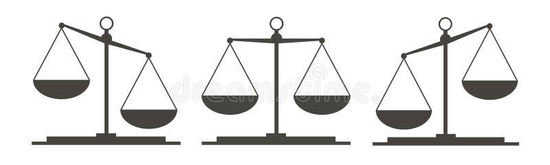 Drei Gesetzesskalen stock abbildung