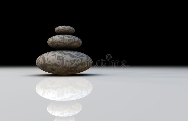 Drei glatte Steine lizenzfreie abbildung