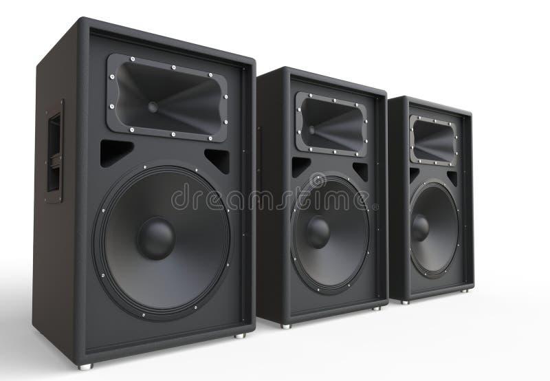 Drei große Lautsprecher lizenzfreie stockfotografie