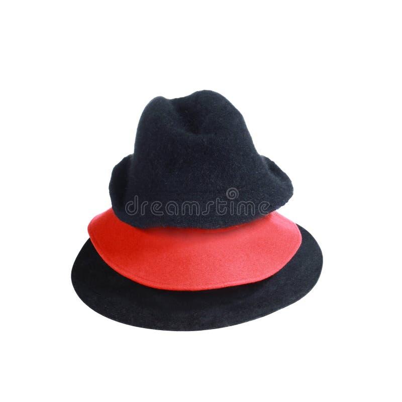 Drei Hüte stockbilder
