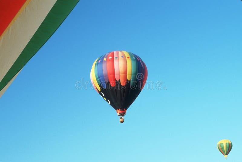 Drei Heißluft baloons stockbilder