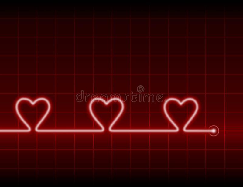 Drei Herzen stockbilder