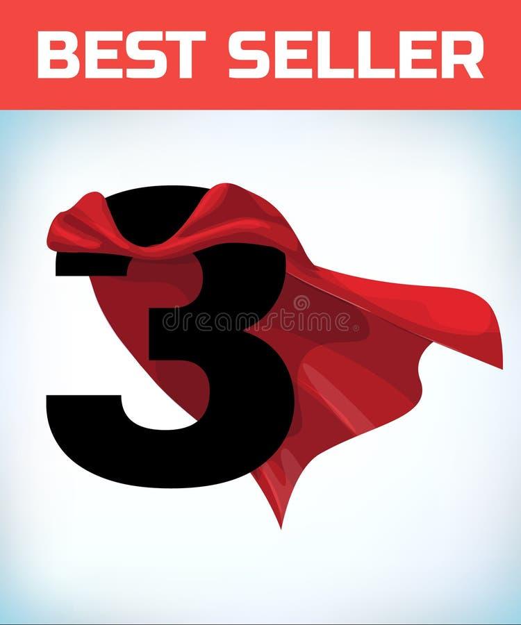 Drei im roten Heldkap Supermantel Supermacht Energiekonzept F?hrungszeichen Superheldsymbol stock abbildung