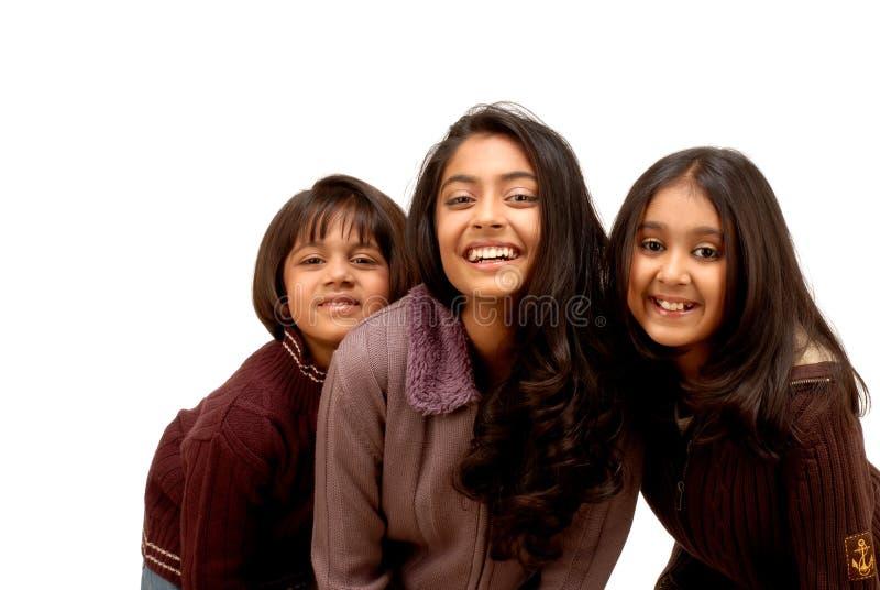 Drei indische Freunde lizenzfreie stockfotografie