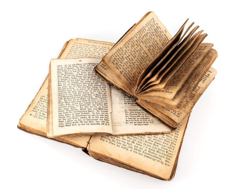 Drei Jahrbücher sind offen stockfotos