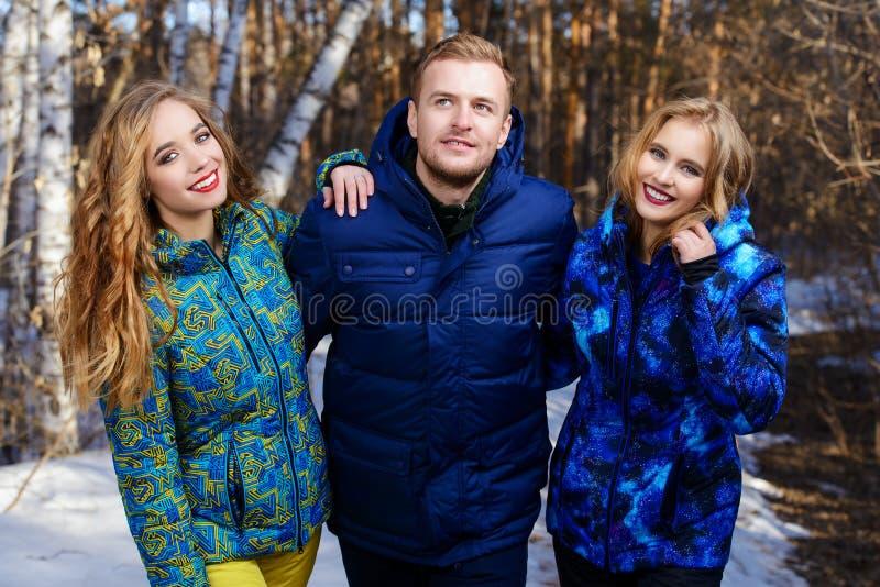 Drei junge Leute lizenzfreie stockfotos